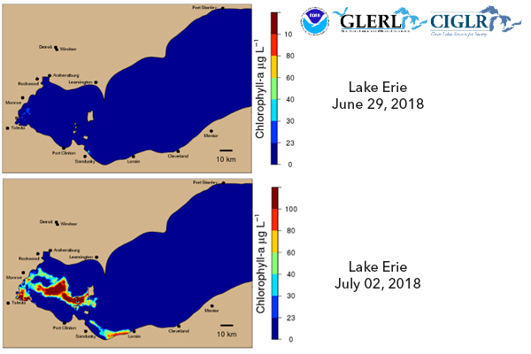 HABs Tracked on Lake Erie