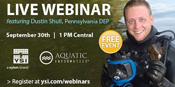 Webinar: Expert Tips for Continuous Water Quality Monitoring | YSI, Aquatic Informatics and Pennsylvania DEP