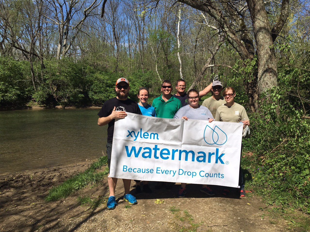 YSI Watermark volunteers at Caesar Creek Canoe Access to the Little Miami River.jpg