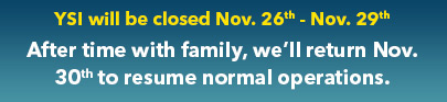 YSI Closed for Thanksgiving