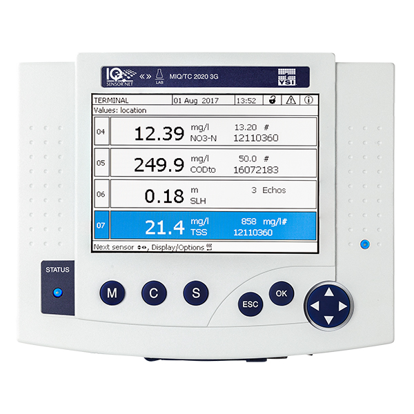 YSI IQ SensorNet 2020 3G allows you to monitor and control