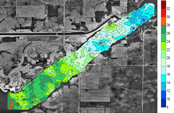 Clinton Lake Study Chlorophyll | HYCAT | YSI