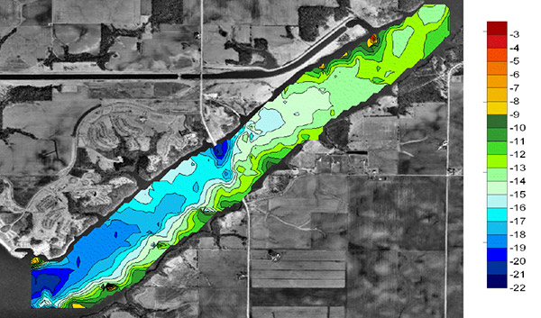 Clinton Lake Study Depth | HYCAT | YSI