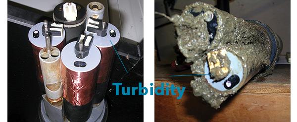 Turbidity Sensor on Sonde Figure 3 and 4