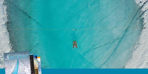 On Ice Stream Flow Data RiverSurveyor M9 Aerial | SonTek
