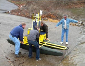 YSI PICES Buoy on Boat Ramp