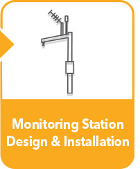 water monitoring station design install