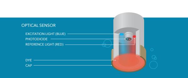 dissolved oxygen measurement optical sensor