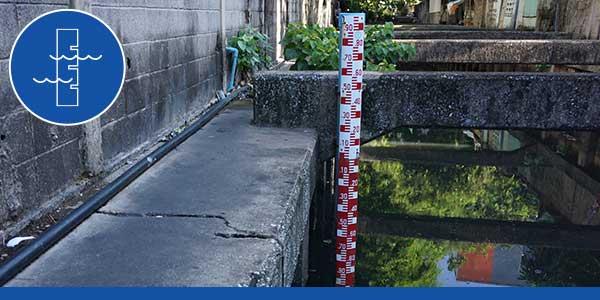 staff gage water level measurement