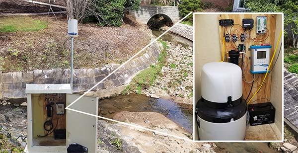 water monitoring station level sensors